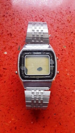 Ultra Rare Viintage Casio A201 Blue Thunder Digital Lcd Alarm Chronograph 1981 Bild