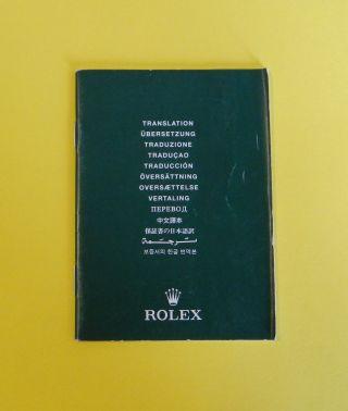 Rolex Oyster Chronometer Bescheinigung C.  O.  S.  C.  (Übersetzung) Ref.  : 565.  01 Bild