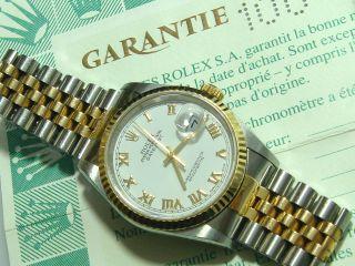 Rolex Datejust Automatik 16233 Stahl 750 Gold 36 Mm Bild
