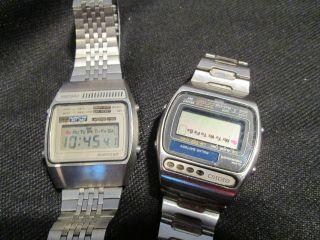 Seiko Lc Quartz,  Alarm Chrono Lcd Digital Uhr Armbanduhr Vintage Bild
