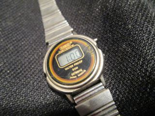 Mbo Internatinal 3453d Lcd Digital Uhr Armbanduhr Vintage Bild