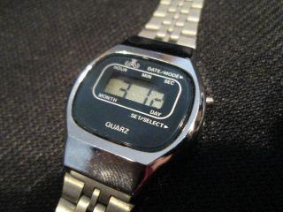 Meister Anker Quartz Lcd Digital Uhr Armbanduhr Vintage Bild