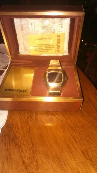 Pulsar Led Uhr Date/command P3 Watch Gold Links 1975 Bild