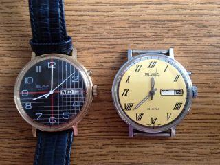 Slava Armbanduhr 26 Jewels Gold Mechanisch Handaufzug Daydate Bild