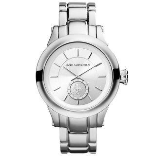 Quartz Uhr Karl Lagerfeld Kl1204 Unisex Edelstahl Armband Silber Ziffernblatt Bild