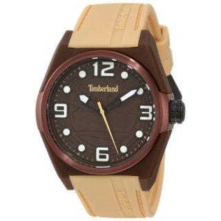 Armbanduhr Timberland Unisex Radler Creme Silikon Armband Braunes Ziffernblatt Bild