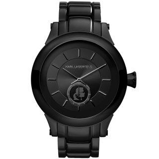 Karl Lagerfeld Kl1201 Unisex Schwarz DfÜ Schwarz Ip - Stahl - Armband - Quarzuhr Bild