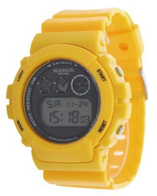 Madison York Unisex Armbanduhr Gelb Candy Time Shock U4168ye Bild