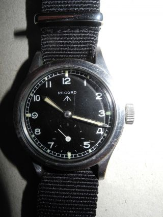 "Record W.  W.  W.  Wrist Watch Waterproof Military Watch - ""dirty Dozen"" Broad Arrow Bild"