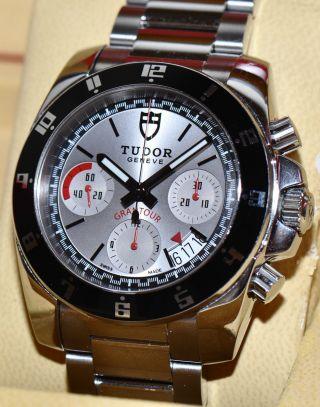 Tudor Grantour Chronograph Stahl Uhr Ref.  20350n Papiere Box 2012 Bild