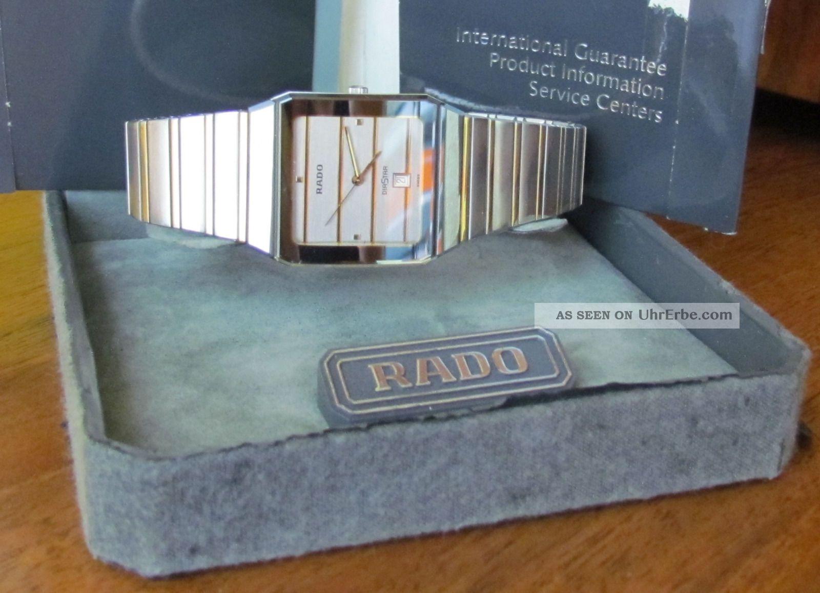 Rado Diastar Stahl/gold Armbanduhren Bild