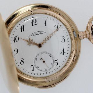 A.  Lange & SÖhne GlashÜtte Viertel - Repetition Savonette Taschenuhr Gold Mit Box Bild