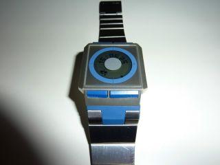 Sehr Seltene Casio Film Watch Modul Nr.  2128 Edelstahl Blau Bild
