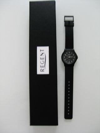 Regent Armbanduhr Schwarz Rund Unisex Bild