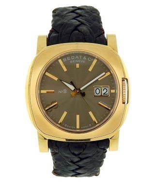 Bedat & Co Nr.  8 Referenz 888 18k Gelbgold Bronze Ziffernblatt Großes Datum Uhr Bild