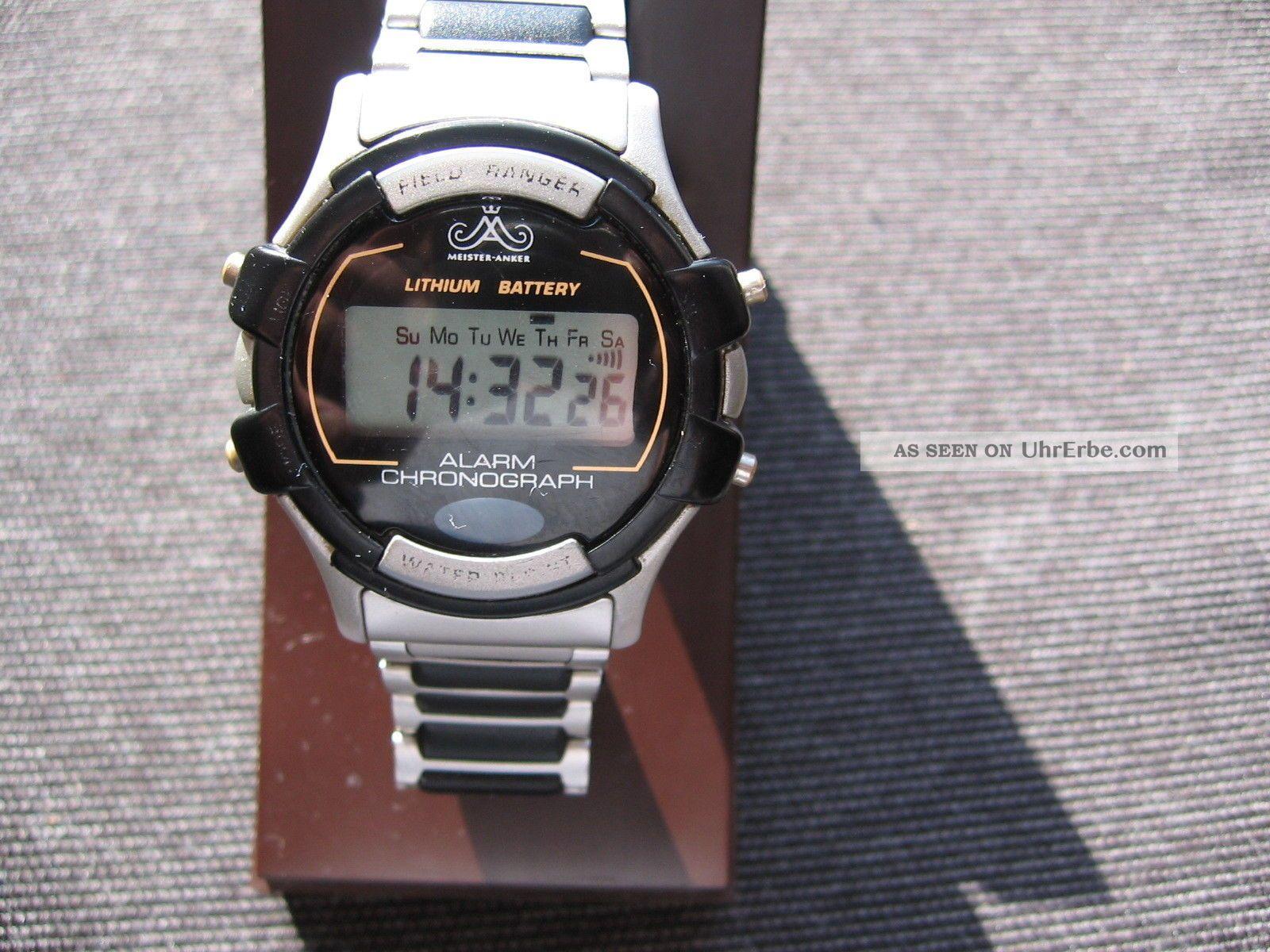 Meister Anker Field Ranger Alarm Chronograph Quarz Uhr - Digital, Armbanduhren Bild