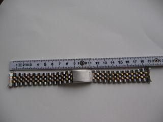 Seiko Edelstahl Uhren Armband,  Bicolor,  Bandanstoß 19,  00 Mm Bild