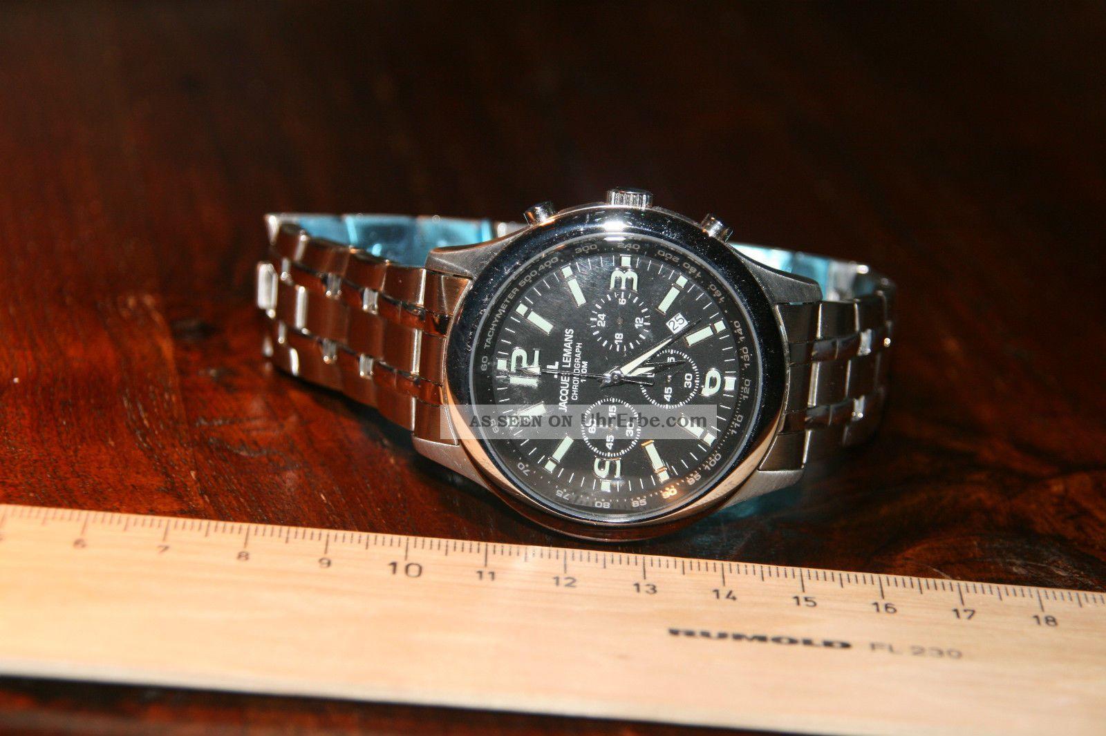 Jacques Lemans Chronograph / Die Schutzfolie Ist Noch Dran Armbanduhren Bild