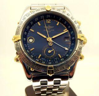 W0082 - Breitling Duograph Ref B - 15507 - Collector - Pilot - Very Good Watch Bild