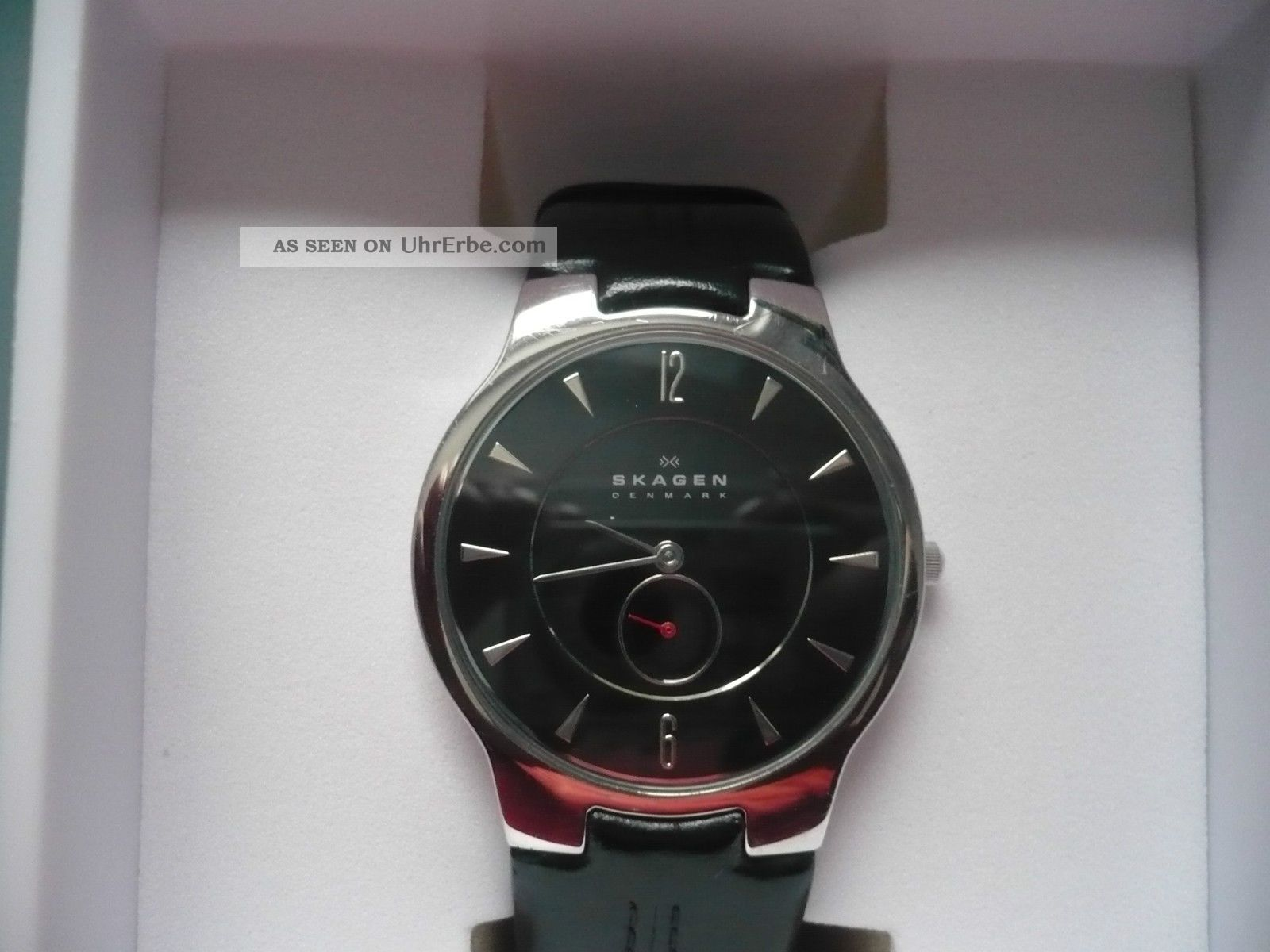 Skagen Slimline Silber Lederarmband Armbanduhren Bild