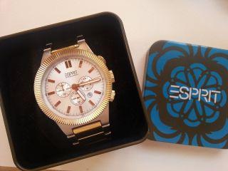 Große Esprit Uhr/ Chronograph / Wie In Ovp/ Np169€ Bild