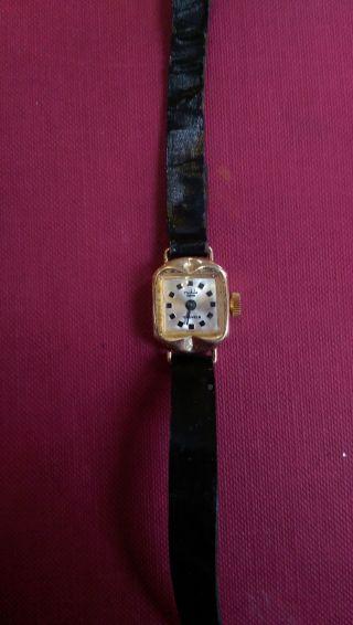 Ruhla Armbanduhr 17 Jewels Plaque 14 Karat Bild
