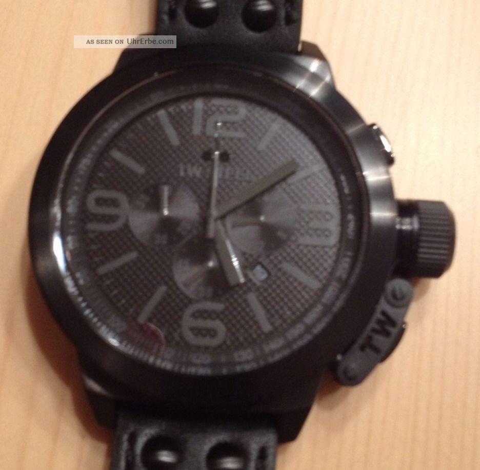 Tw Steel Tw821 Canteen Schwarz In Ovp Mit Armbanduhren Bild