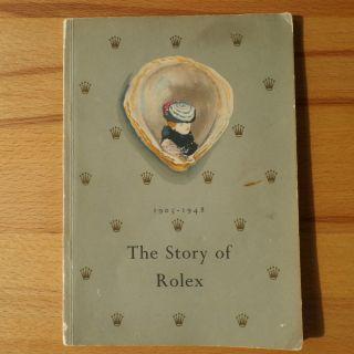 Feines Rolex Buch Prospekt Katalog 1947