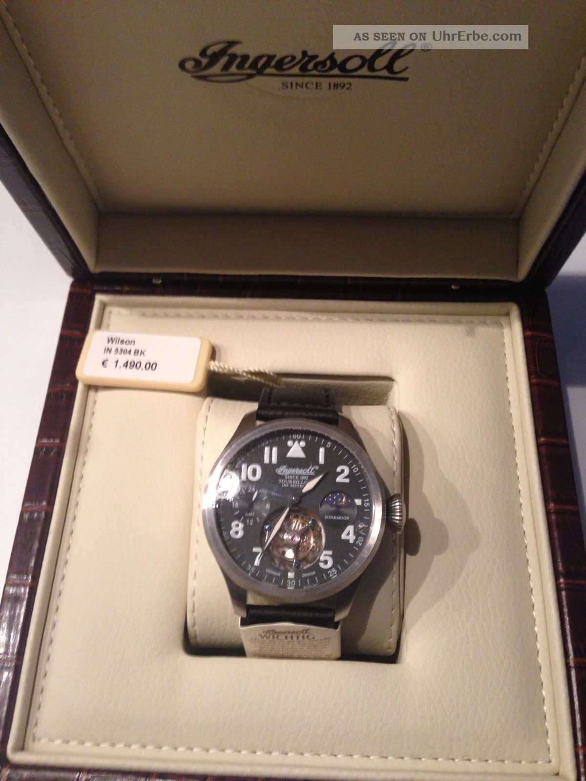 Ingersoll Tourbillon Mod.  Wilson In5304bk Uvp 1490 Armbanduhren Bild