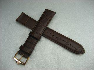 Bulova Lederarmband Armbanduhr Rose Gold Pl Verschluss 8.  00 Zoll 20.  00 Mm Öse Bild
