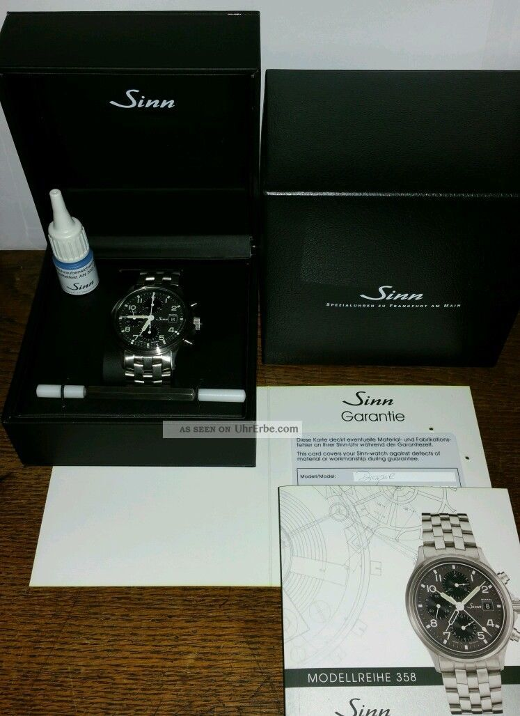 Sinn 358 Diapal Chronograph Armbanduhren Bild