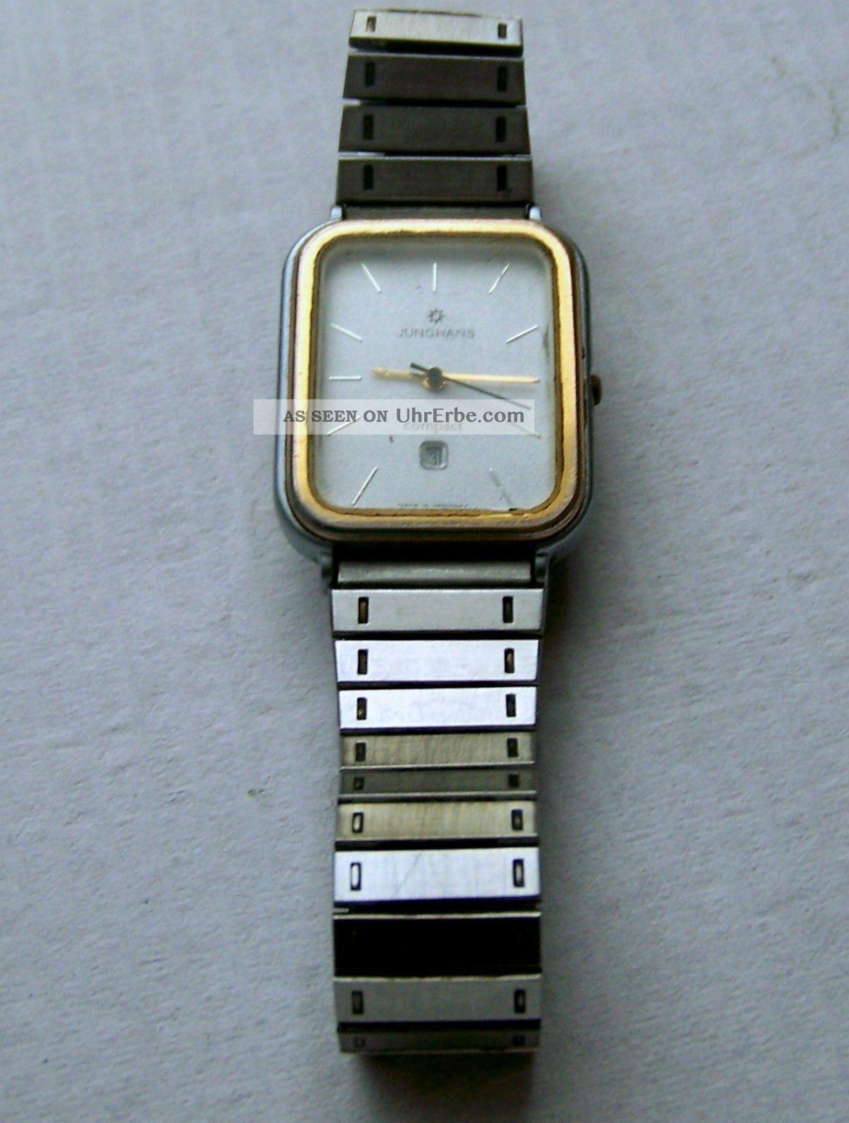 Junghans Armbanduhr Bicolor Quarz Selten