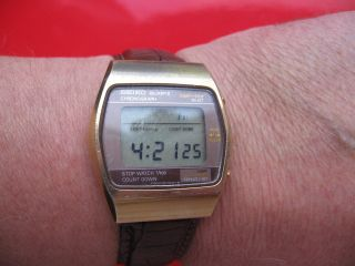 Seiko Lcd Quarz Chronograph Bild