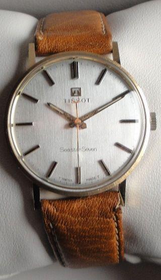 Vintage Armbanduhr Tissot Seastar Seven – Handaufzug - 14 K Gold – Ca.  1967 Bild