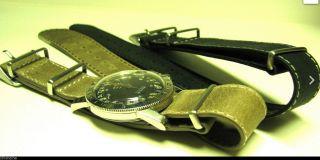 Extra Lang Maßgefertigt Nato Lederarmband Ehering Especially Vintage Rolex Uboot Bild