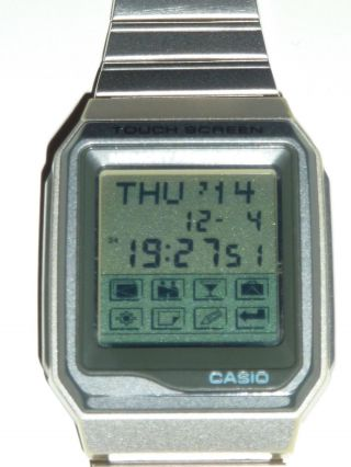 Digital Casio Memory Protect 200 Touch Screen 1554 Vdb 200 Armbanduhr Watch Bild