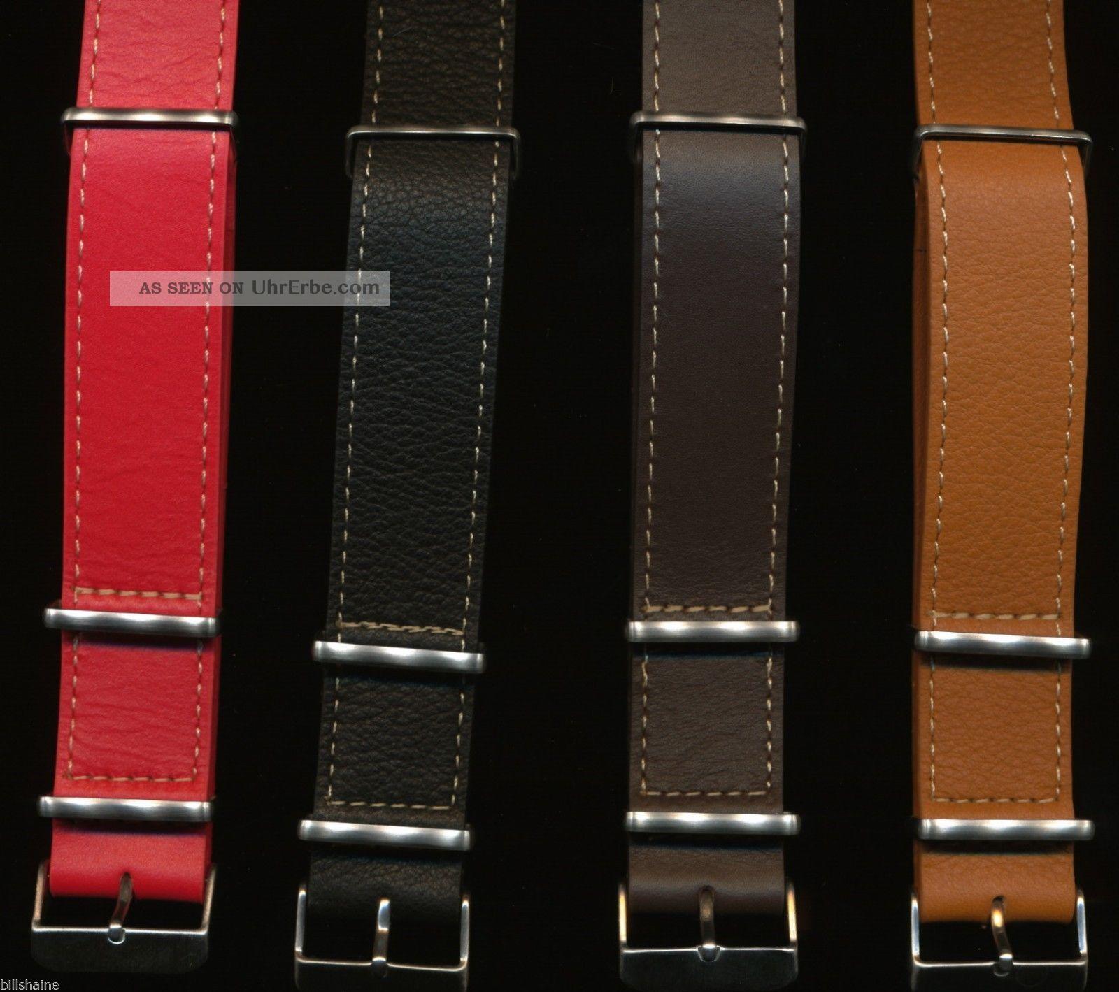 Extra Lang Nato Leder Uhrenarmband Ehering Vintage Breitling Navitimer Armbanduhren Bild