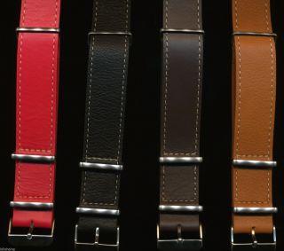 Extra Lang Nato Leder Uhrenarmband Ehering Vintage Breitling Navitimer Bild