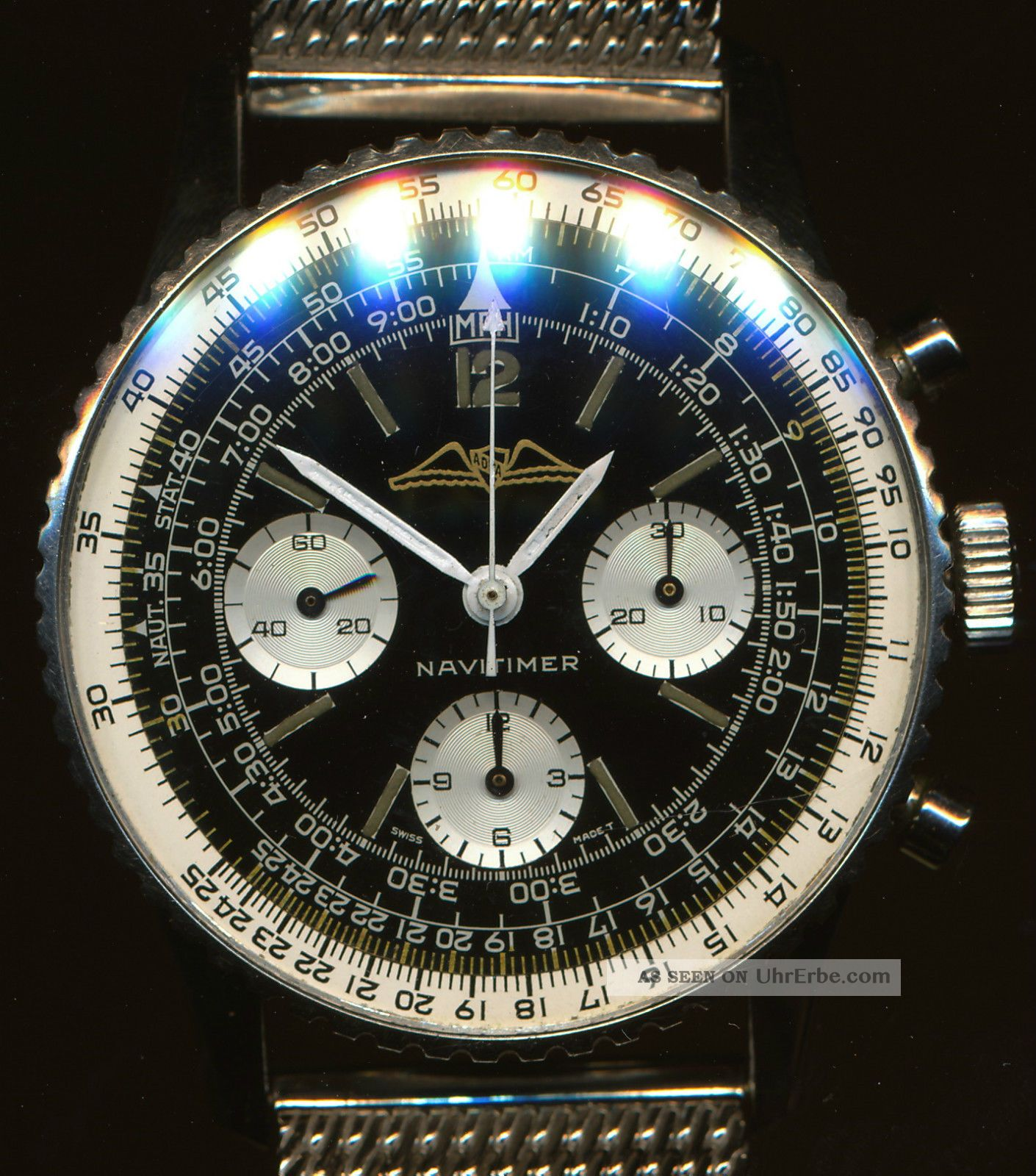 Schwer Stahl Netz Shark Armband 24mm Herstellung Zeitgenössischer Breitling Und Armbanduhren Bild