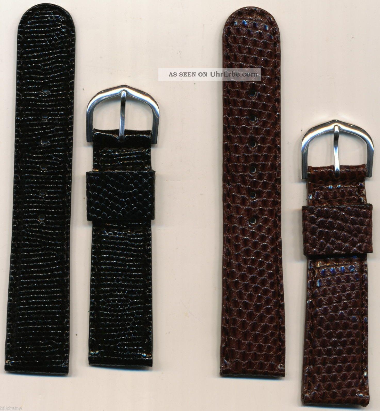 Hohe Ende Maßgefertigt Gepolstert Echse Uhrenarmband Ehering 20mm Armbanduhren Bild