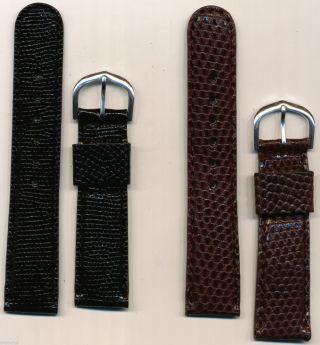 Hohe Ende Maßgefertigt Gepolstert Echse Uhrenarmband Ehering 20mm Bild