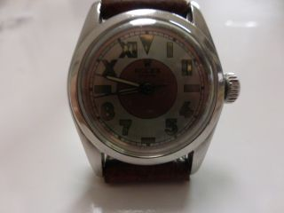 Rolex Oyster Bubble Back Stahl California Dial Ref 5056 Bild