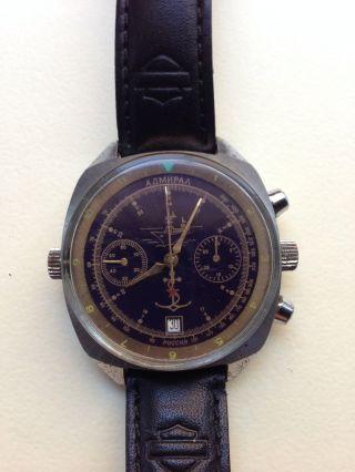 Poljot Vintage Chronograph Mit Drehbarer Lünette Cal.  3133 Bild