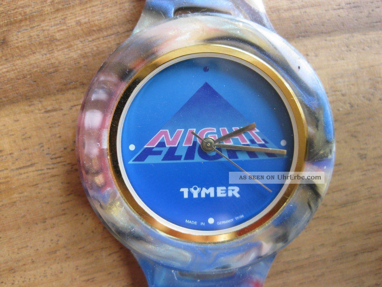 Tymer Uhr Night Flight Mit Kautschukband Armbanduhr Werbeuhr Armbanduhren Bild