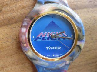 Tymer Uhr Night Flight Mit Kautschukband Armbanduhr Werbeuhr Bild