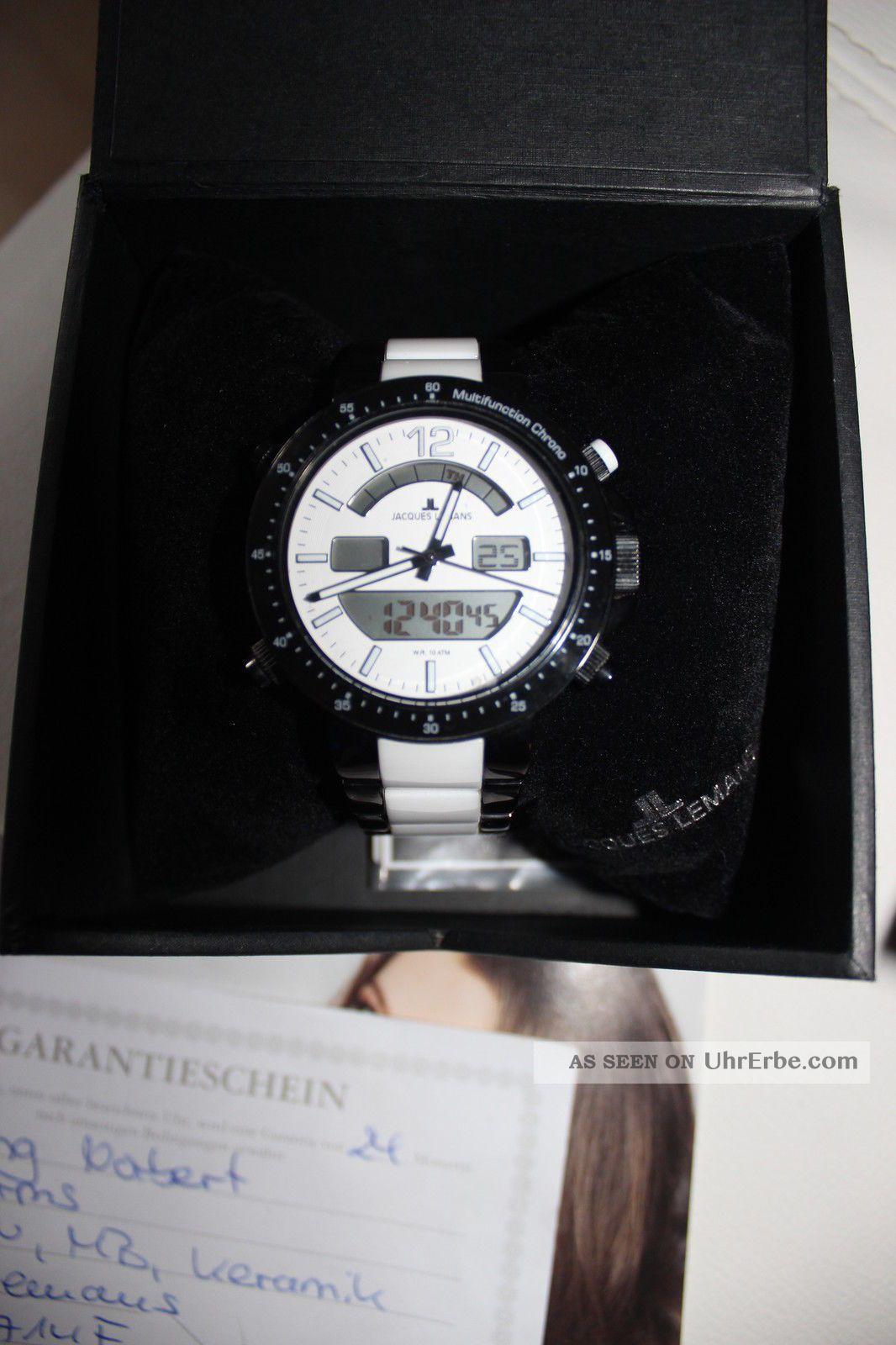 Jacques Lemans Uhr Sports Milano Sport Ceramic Chronograph 100m Top Armbanduhren Bild