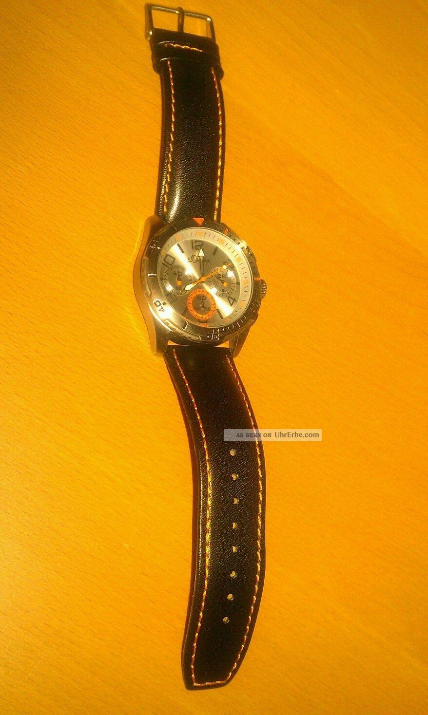 Chronograph Von S.  Oliver Neuwertig Armbanduhren Bild