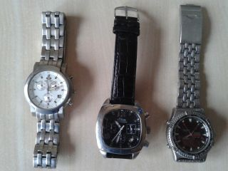 3x Uhr,  Chronograph,  S Oliver,  Rivado,  Timeforce,  Water Resistant Bild