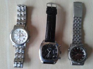 3x Uhr,  Chronograph,  S Oliver,  Rivado,  Timeforce,  Water Resistant Bild