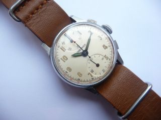 Longines Chronographe Schakelrad Movement Extreme Rare Vintage Watch Bild